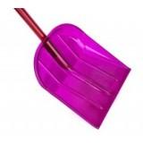 Лопата из поликарбоната 340*385 мм с алюминиевым черенком и V-обр. ручкой