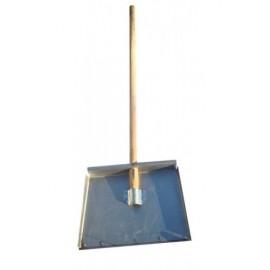 Лопата 3-х бортная 500*375*1,5 мм алюминиевая с накладкой 12 см и черенком