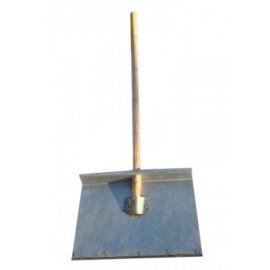 Лопата 1-но бортная 500*375*1,8 мм алюминиевая с оцинкованной планкой и черенком