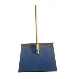 Лопата 1-но бортная 600*500*1,8 мм алюминиевая с оцинкованной планкой и черенком